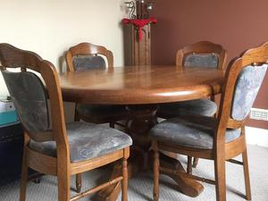 Solid German Oak Dining Set In Bridgend