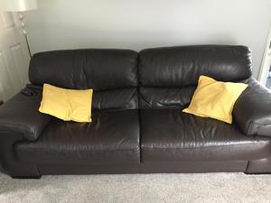 3 Seater Leather Sofa In Washington