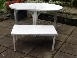 extending garden or conservatory table plus side table in eastbourne - Garden Furniture Eastbourne