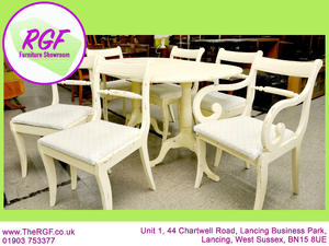 FURTHER REDUCTION!! - Dining Table and 6 Chairs - Great Restoration Project - Local Delivery £19 in Lancing