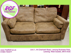 FURTHER REDUCTION!! - Faux Suede 2 Seater Sofa Bed - Local Delivery £19 in Lancing
