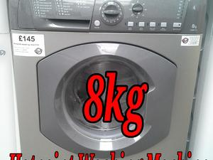 Washing Machine 8kg Silver Hotpoint  in St. Leonards-On-Sea