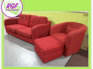 SALE NOW ON!! Red Sofa Suite   Local Delivery £19