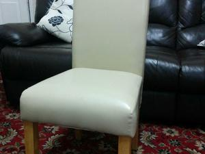 Leather Style Dining Chairs X2 In Bristol