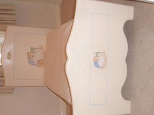 Hand painted beatrix potter cot bed beatrix potter lamp in hand painted beatrix potter cot bed beatrix potter lamp in chessington sciox Image collections