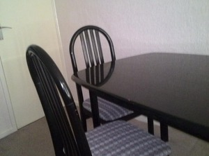 Dining Table And Chairs Used 6 Place In Black With