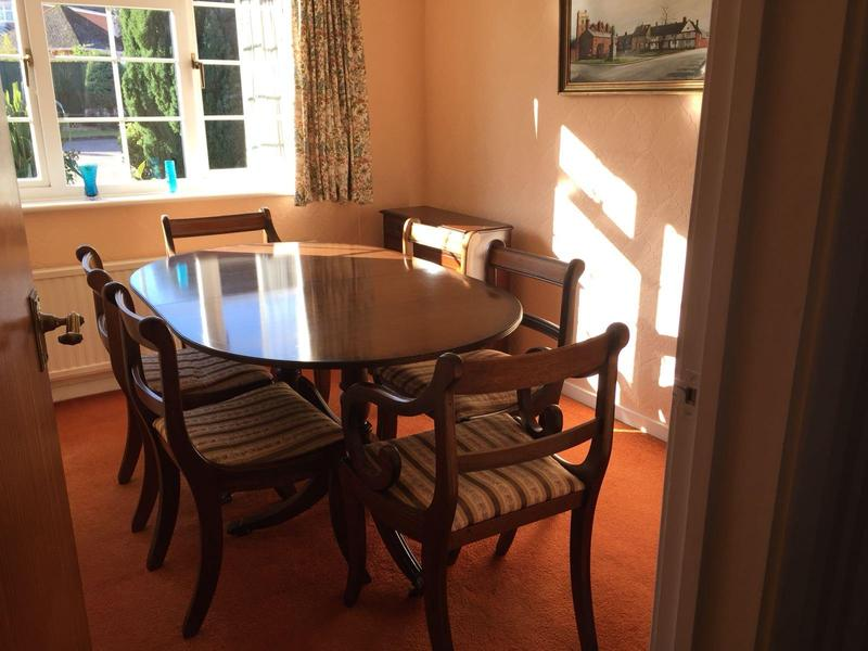 For Sale Lovely Dark Wood Dining Room Table And Chairs In Southampton