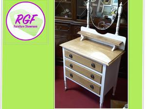 Painted & Restored Dressing Table With 3 Drawers - Local Delivery £19 in Lancing