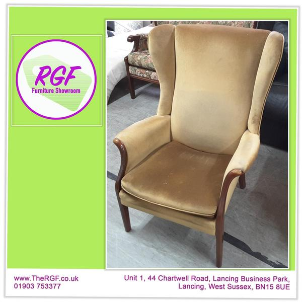 Vintage Parker Knoll Wingback Chair For Reupholstery Project   PK750   Local  Delivery £19 In