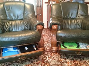 TWO LEATHER ARM CHAIRS In Hartlepool