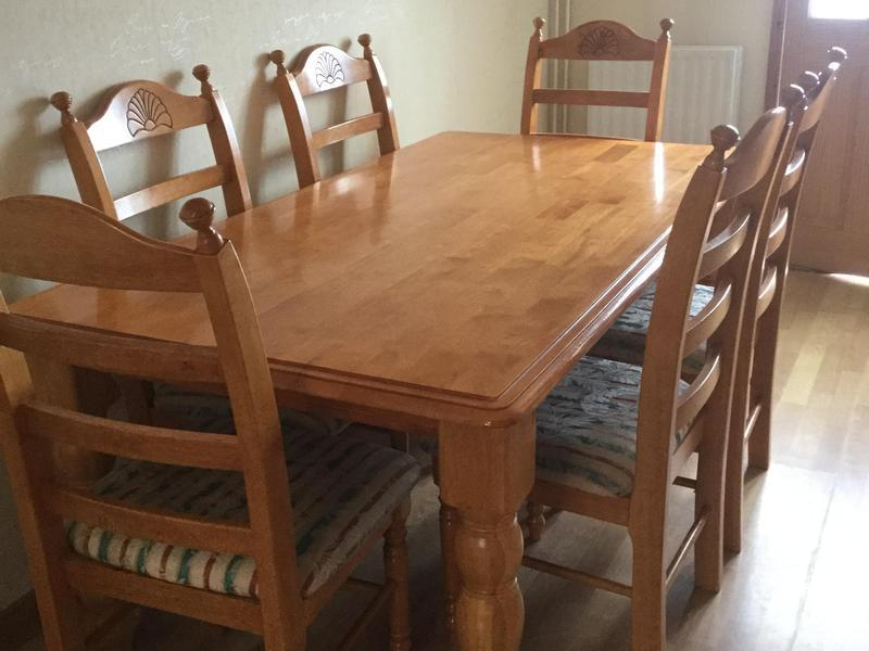 Large Wood Table U0026 6 Chairs In Peterborough