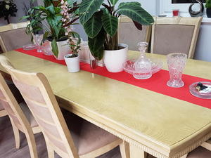 Dining Table And 8 Chairs Server Drinks Limed Oak